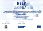 HELP Certificate